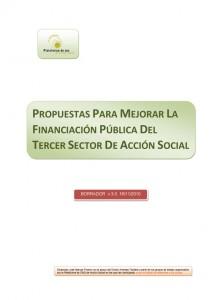 Propuestas mejoras financiación Tercer Sector de Acción Social